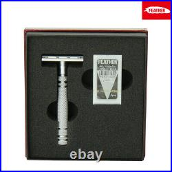 Feather AS-D2 Stainless Razor with 5 Hi-Stainless Double Edge Blades Shaving Set
