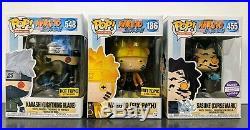 Funko Pop! Naruto Set of Six Path Sasuke Curse Mark Kakashi Lightning Blade