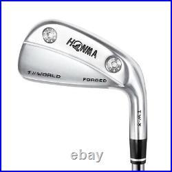Honma Golf T//World TW-X Forged Muscle Back Iron Set (4-PW), Graphite Stiff Flex