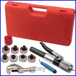 Hydraulic HVAC Tube Tubing Expander Swaging 7 Lever Tool Heads Kit Set 3/8