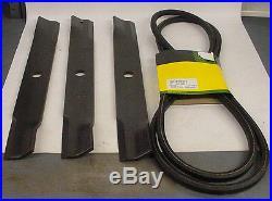 JOHN DEERE Blade & Belt set M141785 M140021 60 deck on 420 430 755 855 955