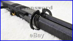 Japanese Sword Set Gemini Twin Ninja Folde Steel Iron Tsuba Straight Blade Black