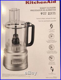KitchenAid KFP0919cup Wide Mouth FoodProcessor Large Exact Slice, SLIVER NEW Set