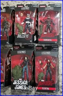 Marvel Legends Netflix Man-thing Set Misb Blade Daredevil Punisher Elektra Cage