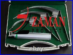 Mccoy Flexi-Tip Fiberoptic Led Laryngoscope Medium Handle Blade Size 2&3&4 Set