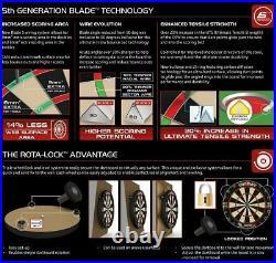 Mega Starter-Set Dartboard WINMAU Blade 5 Bristle Board +Zubehör