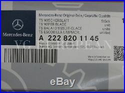 Mercedes-Benz S-Class Genuine Front Window Windshield Wiper Blade Set NEW