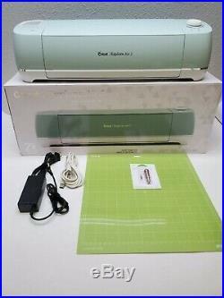 Mint Green Cricut Explore Air 2 Smart Cutting Machine, New Blade Set, Mat, Read