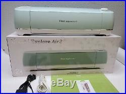 Mint Green Cricut Explore Air 2 Smart Cutting Machine With New Blade Set, Read