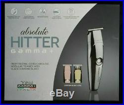 NEW Gamma+ Absolute Hitter Trimmer Set Black Diamond Blade Cord/Cordless Chrome