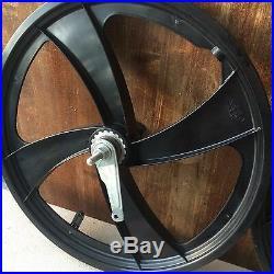 NOS 4 Blade Black SateLite BMX Wheel set-Coaster- 20 Mags-GT Mongoose Redline