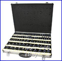 New 80pc 1/2 Shank Tungsten Carbide Router Bit Set 2 Blades 3 Blade Woodworking