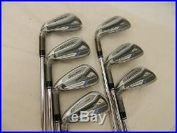 New LH Taylormade Speed Blade Irons 4-PW Speedblade Iron set Regular Flex Steel