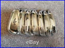 New Tour Issue Callaway Apex MB heads 4-PW iron set forged chrome blades