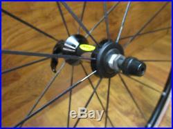 Nos Mavic Ksyrium Equipe Bladed 700c Clincher 8 9 10 11 Speed Wheel Set Black