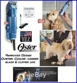 Oster A5 TURBO 2 Speed HEAVY DUTY CLIPPER SET Cryogen X 10 BladePet Dog Horse