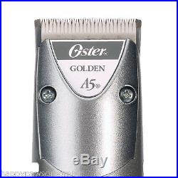 Oster GOLDEN A5 HEAVY DUTY 2 Speed CLIPPER&10,40 blade&7 Guide Comb SET DOG CAT