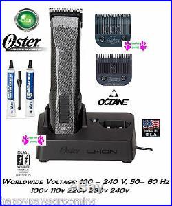 Oster OCTANE Cordless Lithium Ion A5/76 Cordless Clipper SET#000&1 DIAMOX Blades
