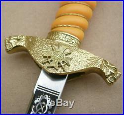 Perfect Bulgarian Infantry Officer Parade Dagger Set 2003, dirk, blade, knife