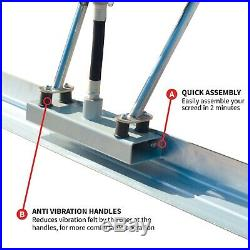 Power Screed Vibratory Bull Float 14ft & 12ft Blade Set Concrete Finishing Tool