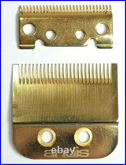 REAL 24K GOLD Custom Andis Fade Master Replacement Blade Set #01591