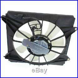 Radiator Cooling Fan Set For 2013-2017 Honda Accord WithBlade Motor & Shroud 2 Pc