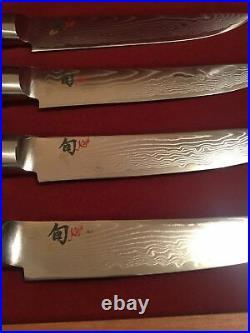 SHUN KAJI 4 Pc Steak Knife Set In Box 5 In. Blade Japan New Unused Classic MV