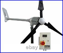 Set i-1000W 48V Windgenerator CARBONE BLADE+ Hybrid Charge Controller iSTABREEZE