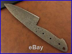 Set of 3 Handmade Damascus Steel Chef-Kitchen Blank Blade-Knife Making-K1