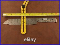 Set of 3x Handmade Damascus Steel Chef-Kitchen Blank Blades-Knife Making-K16