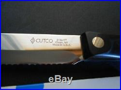 Set of 6 Cutco Steak Knives #2159, 5 blade, classic dark brown handle, NEW