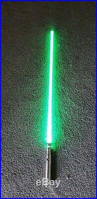Silver Ultrasaber. Green Blade. Basic Battery Set Up. No Sound