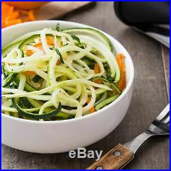 Spiralizer Vegetable Slicer 3 Blade Veggie Pasta Spaghetti Maker Cutter Set