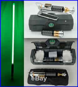 Star Wars Galaxys Edge Luke Skywalker Legacy Lightsaber with36 Blade & Stand Set