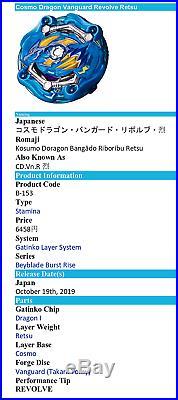 Takara Tomy Beyblade Burst GT B-153 GATINKO Customize REMODELING Set US Seller