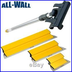 TapeTech Drywall Finish Smoothing Blade Set 10-14-24 Knives + Extension Handle