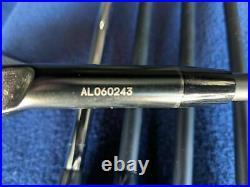 Used RH Ping G710 Black Dot Iron Set 4-W, U, S Regular Flex Graphite Shafts