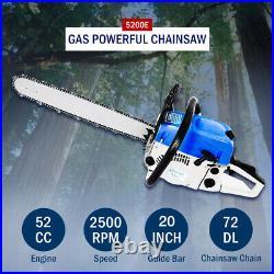 VEHPRO 20in 58CC Gas Powered Chainsaw 2 Stroke 3000W Petrol Gasoline Chain Saw