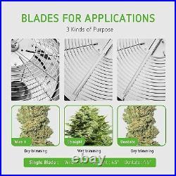 VIVOSUN Food Grade Silicone 19 Leaf Bowl Bud Trimmer Twisted Spin Cut Plant Bud
