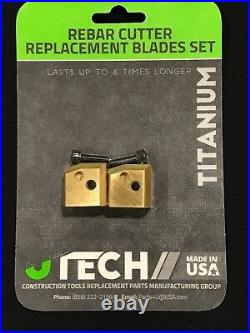 Vb16y Hitachi Rebar Cutter/bender Blocks (blades) Set Oem Part # 319706 319-706