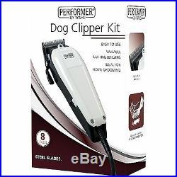 Wahl 9160-800 Steel Blade Mains Performer Dog Clipper Set Animal Grooming Kit