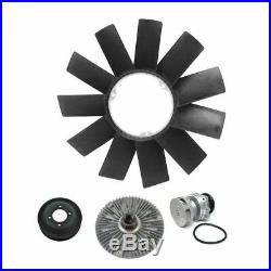 Water Pump with Pulley Fan Clutch & Blade Kit Set for E46 E39 3 & 5 Series Z3 Z4